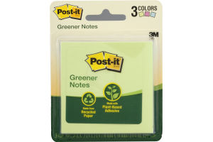 Post-it Greener Notes - 3 PK