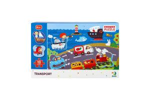 Пазл для детей от 18мес сортер 31х45см №300158 Транспорт Dodo 18эл
