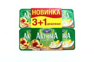 Біфідойогурт Danone Активіа Персик-мюслі 2,2% 4*115г х4