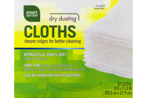 Smart Sense Dry Dusting Cloths - 32 CT