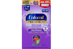 Enfamil Gentlease for Fussiness, Gas & Crying Infant Formula Powder Refills 0-12 Months - 2 CT