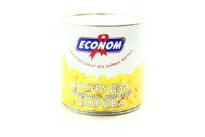 Кукуруза сахарная из целых зерен ж/б Econom 425г