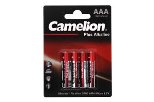 Батарейки ААА 1.5V LR03-BP4 Plus Alkaline Camelion 4шт