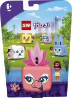 Конструктор для детей от 6лет №41662 Куб-фламинго с Оливией Friends Lego 1шт