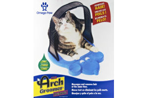 Omega Paw Arch Groomer Deluxe Massages and Removes Hair for Cats