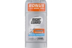 Right Guard Antiperspirant Deodorant Xtreme Defense 5 Arctic Refresh