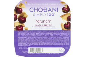Chobani Simply 100 Non-Fat Greek Yogurt Crunch Black Cherry Pie