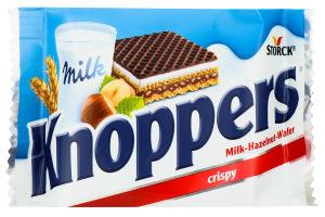 Вафлі Storck Knoppers в молочному шоколаді з горіхом 25г х6