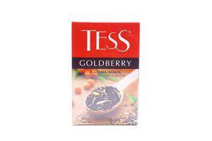 Чай черный листовой с ароматом облепихи и айвы Goldberry Tess к/у 90г