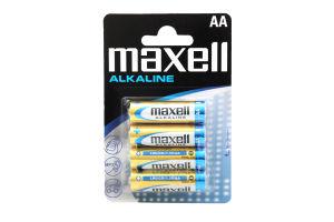 Батарейки АА LR6 Alkaline Maxell 4шт