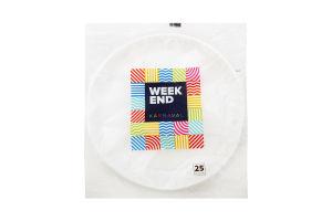 Тарелка пластиковая мелкая Weekend 205 мл 25шт