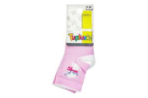 Шкарпетки дитячі Tuptusie 10-12 рожеві