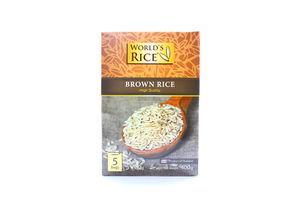 Рис коричневый World's Rice к/у 5х80г