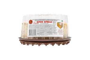 Торт бісквітний Крем брюле Солодка хата п/у 1кг