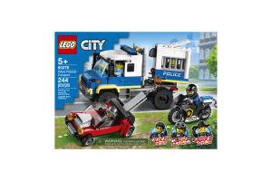 Конструктор для детей от 5лет №60276 Police Prisoner Transport City Lego 1шт