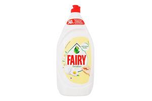 Засіб для миття посуду Ромашка та вітамін Е Sensitive Fairy 1350мл