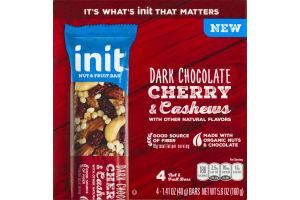 Init Nut & Fruit Bar Dark Chocolate Cherry & Cashews - 4 CT