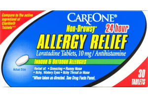 CareOne Allergy Relief Non-Drowsy Tablets - 30 CT