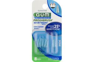 GUM Proxabrush Go-Betweens Refills Wide - 8 CT