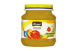 Пюре для дітей від 4міс Яблуко та персик Hame с/б 125г