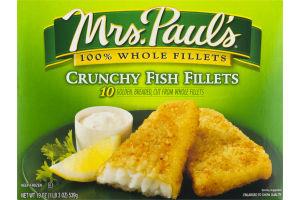 Mrs. Paul's 100% Whole Fillets Fish Fillets Crunchy - 10 CT