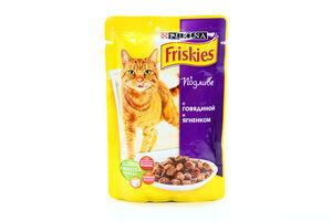 Корм для котов говядина-ягненок в подливе мягкая упаковка Friskies Purina 100г