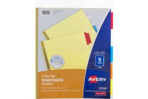 Avery Big Tab Insertable Dividers - 5 Tab