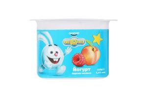 Йогурт 1.4% Персик-малина Смешарики ст 115г