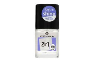 Основа-закріплювач для лака 2в1 Last&Shine Essence 8мл