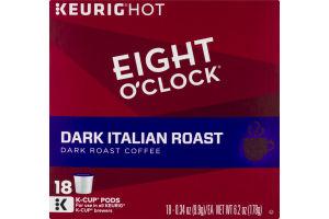 Eight O'Clock Dark Italian Roast Coffee K-Cup Pods - 18 CT