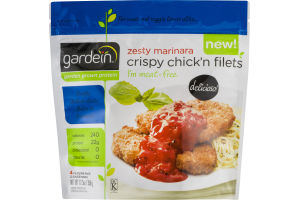 Gardein Crispy Chick'n Filets Zesty Marinara - 4 CT