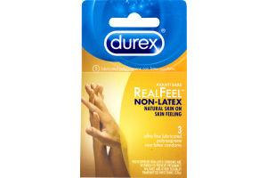 Durex Real Feel Non-Latex Condoms - 3 CT