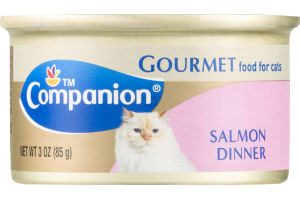 Companion Gourmet Food for Cats Salmon Dinner 3 OZ