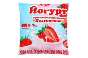 Йогурт 2.5% Полуничний Віта м/у 400г