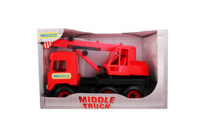 Игрушка для детей от 3лет №39487 Crane Middle truck Wader 1шт