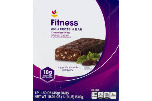 Ahold Fitness High Protein Bar Chocolate Mint - 12 CT