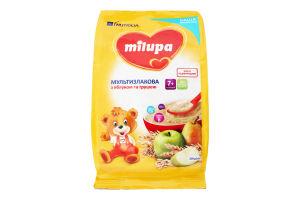 Каша молочная сухая быстрорастворимая мультизлаковая с яблоком и грушей для детей от 7мес Milupa м/у 210г