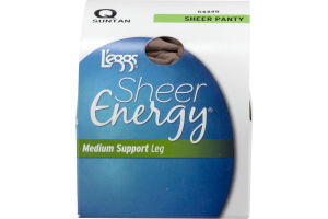 L'eggs Sheer Energy Medium Support Leg Sheer Panty Suntan Q