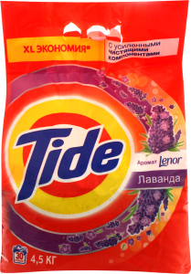 Порошок пральний Tide Аромат Lenor Лаванда автомат 4,5кг