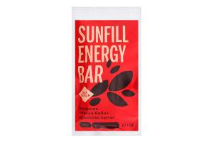 Батончик Какао-бобы+арахисовая паста Sunfill м/у 37г