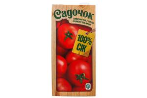 Сок томатный с солью прямого отжима Садочок т/п 0.95л
