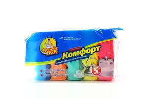 Губка кухонная волнистая Комфорт Фрекен Бок 5шт
