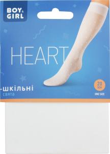 Гольфы детские Boy&Girl Heart 20den 20-22 white