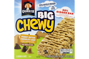 Quaker Big Chewy Granola Bars Peanut Butter Chocolate Chip - 5 CT