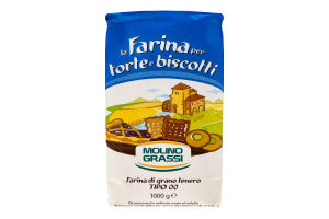 Мука из мягких сортов пшеницы Torte e Biscotti Molino Grassi м/у 1кг