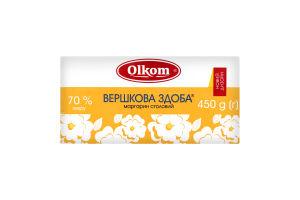 Маргарин 70% столовый Сливочная сдоба Olkom м/у 450г