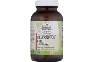 Nature's Promise Organic 1,000mg Flaxseed Oil - 90 CT