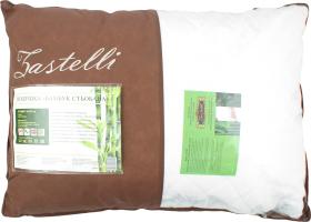 Подушка Zastelli 50*70 Бамбук стьобана чохол мікрожакард наповнювач 50%бамбук 50% холофайбер