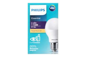 Лампа світлодіодна Philips ESS LEDBulb 11W E27 3000K 230V 1CT/12RCA