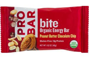 PROBAR Bite Organic Energy Bar Peanut Butter Chocolate Chip